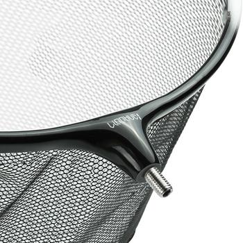 Head Fishing Nets Brail Nano Titanium Alloy Landing Net Removable Hand Net For Fishing Anti-adhesive Hook Fishing Accessories tanie i dobre opinie LINNHUE CN (pochodzenie) Multifilament Małe oczka D0067 Podwójne Other Ręcznie netto Super Strong Black Silver Extendable