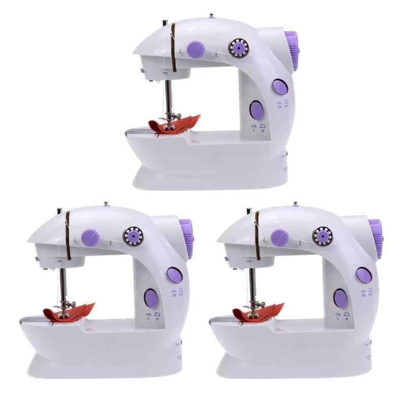 Electric Handheld Sewing Machine Mini 2019 Dual Speed Adjustment with Light Foot AC100-240V Double Threads Pendal Sewing Machine