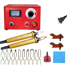цена Adjustable Temperature Wood Burning Machine Set 25W Handle Wood Crafts Burning Tools Electric Soldering Iron