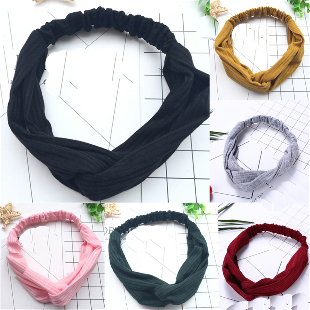 Apparel Accessories Dynamic 1 Pc Womens Fashion 10 Colors Simple Sport Headband Girls Cloth Solid Color Hair Hoop Hairband Korean Style Hair Accessories Promoting Health And Curing Diseases