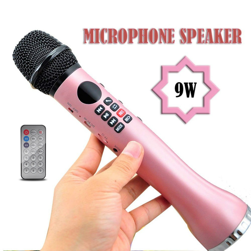 L598Rc Wireless microphone Speaker 9w large sound speaker Smart phone Karaoke mic Bluetooth + Remote Control K song PK WS858L598Rc Wireless microphone Speaker 9w large sound speaker Smart phone Karaoke mic Bluetooth + Remote Control K song PK WS858