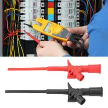 цена на 2Pcs/Lot P5004 High Voltage Flexible Test Probe Insulated Quick Test Hook Clip Full Insulated Quick Test Probes Alligator Clips