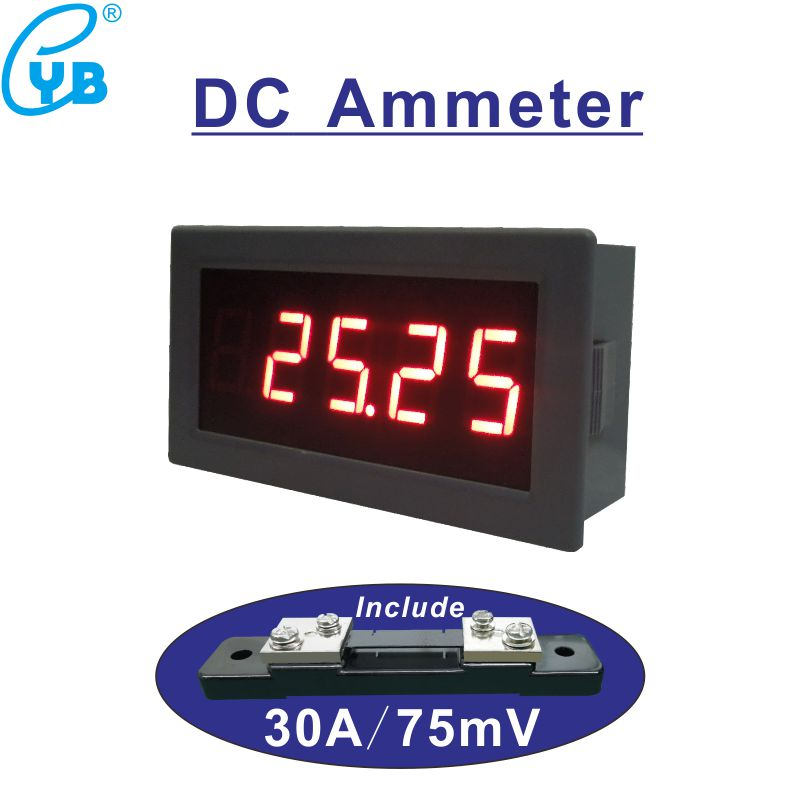 Dc Ammeter Dc30a Current Meter Include Shunt 30a  75mv Dc