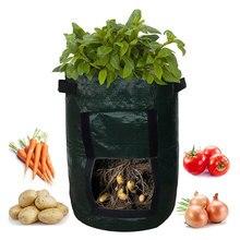 Vegetable Plant Grow Bag DIY Potato Planter PE Cloth Tomato Planting Container Thicken Garden Pot Supplies