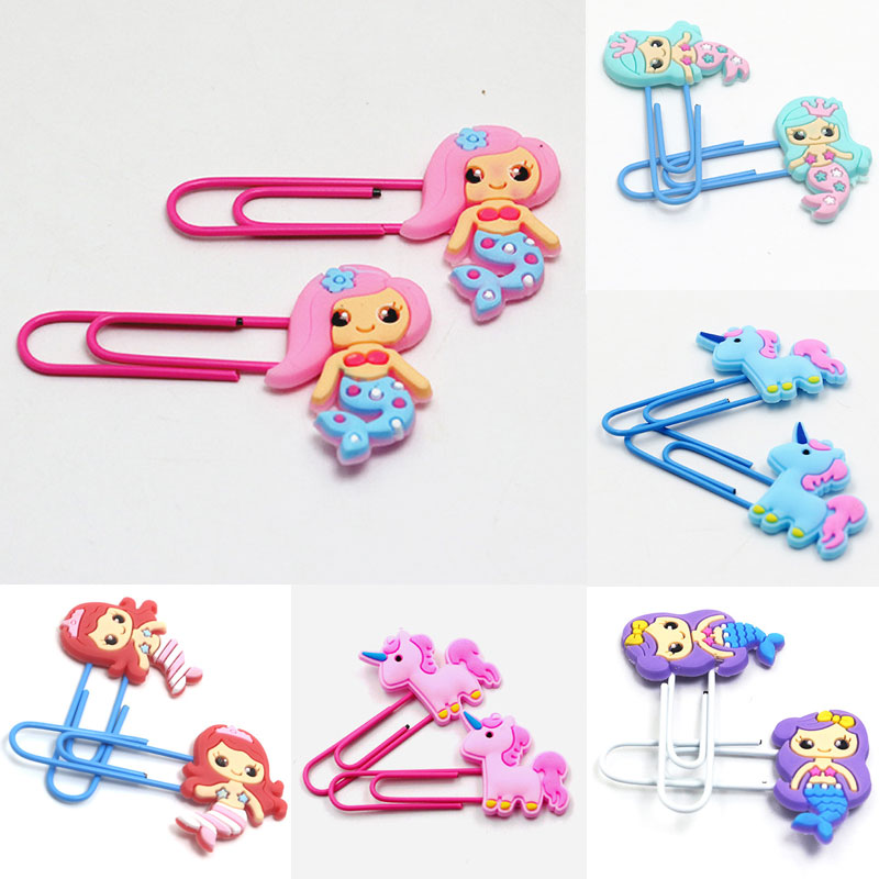 Labels, Indexes & Stamps Office & School Supplies Cute Mermaid Unicorn Book Marks Lovely Bookmarks Kawaii Metal Paperclips For Kids Girls Gift Novelty Stationery School Supplies Attractive Fashion