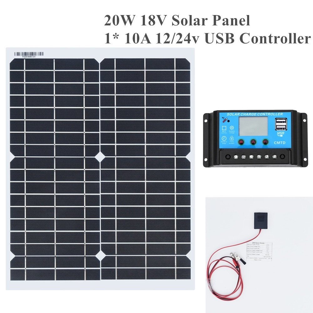 20w 18v Flexible Solar Panel DIY Module Panel Crocodile Clip Connector High Efficiency Solar Cell Mono
