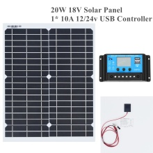 20w 18v Flexible Solar Panel DIY Module Panel Crocodile Clip Connector High Efficiency Solar Cell Mono Module for RV Boat Yacht solarparts 10x 100w flexible solar panel 12v high efficiency solar cell yacht boat marine rv solar module battery charge cheaper