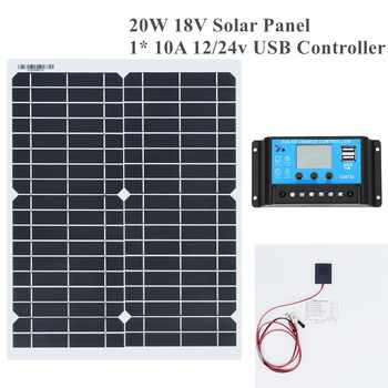 20w 18v Flexible Solar Panel DIY Module Panel Crocodile Clip Connector High Efficiency Solar Cell Mono Module for RV Boat Yacht - DISCOUNT ITEM  10% OFF All Category