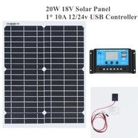 20w 18v Flexible Solar Panel DIY Module Panel Crocodile Clip Connector High Efficiency Solar Cell Mono Module for RV Boat Yacht