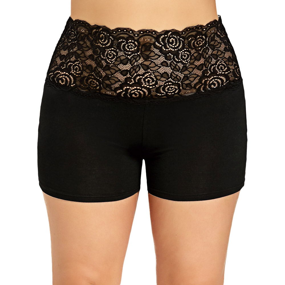 Rosegal <font><b>Plus</b></font> <font><b>Size</b></font> <font><b>Lace</b></font> <font><b>Shorts</b></font> Women Trim Scalloped <font><b>Shorts</b></font> Modis Women Summer Bottom Sexy <font><b>Shorts</b></font> <font><b>Short</b></font> Femme image