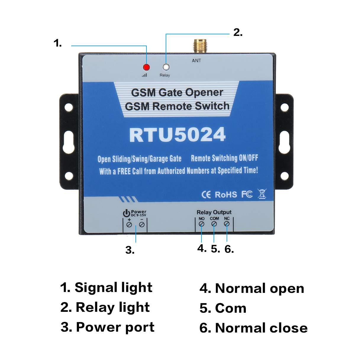 Image 3 - RTU5024 GSM ворот реле дистанционного контроля допуска двери беспроводной открывания двери с помощью бесплатного звонка 850/900/1800/1900 МГц-in Наборы для управления доступом from Безопасность и защита