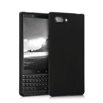 Перейти на Алиэкспресс и купить Матовый черный чехол, мягкий силиконовый чехол из ТПУ для BlackBerry KEY2 LE BBE100, ударопрочный цветной чехол для BBE100-4