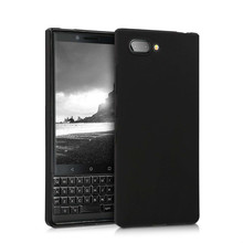 Matte Black Case Soft TPU Silicone Back Cover For BlackBerry KEY2 LE BBE100 Shockproof Colored for BBE100-4