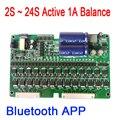 Bluetooth APP 2 S ~ 24 S 1A Batteria Al Litio auto Elettrica Equalizzatore Attivo Equilibrio BMS Lifepo4 Balancer Bordo di Protezione eBike