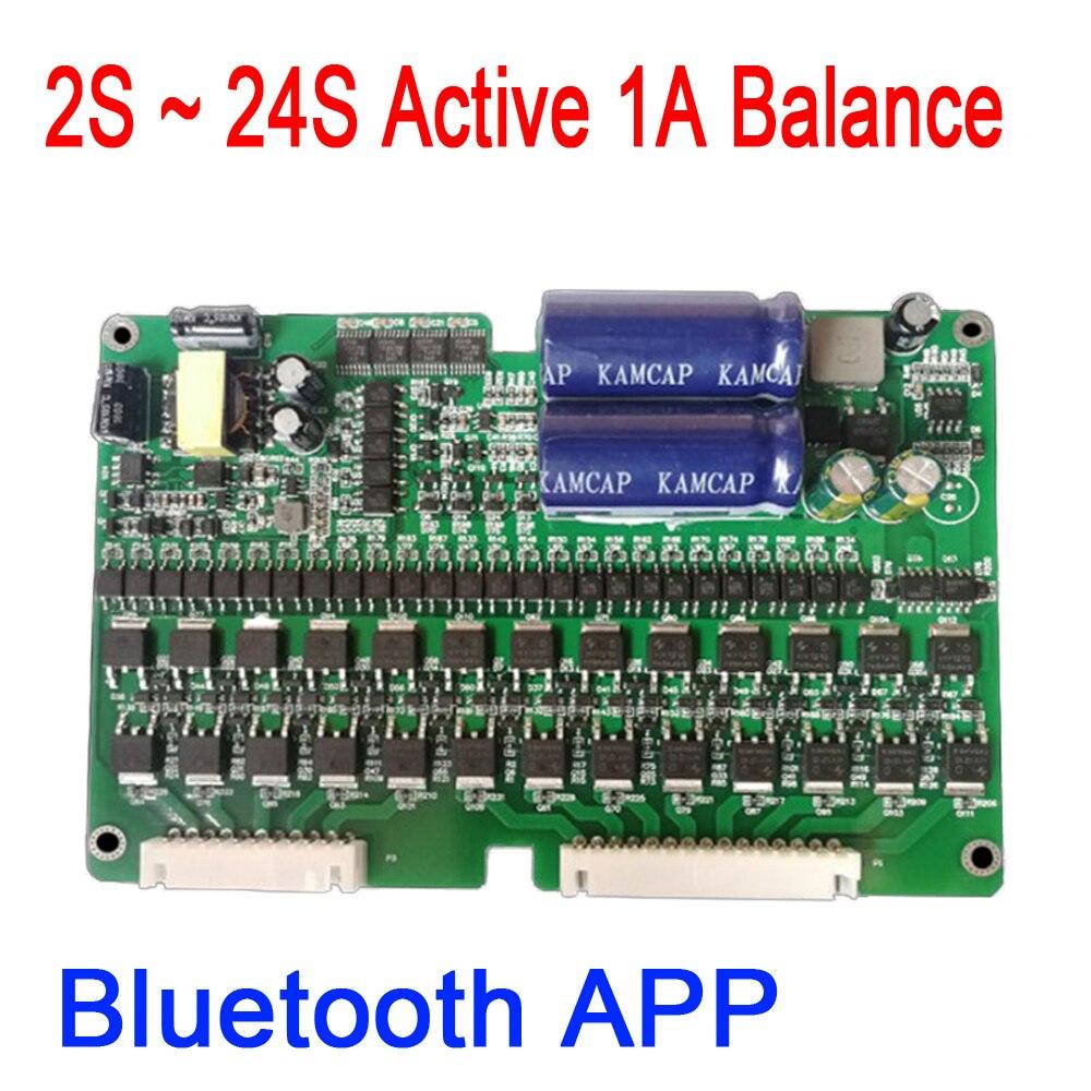 Bluetooth APP 2 S ~ 24 S 1A voiture électrique batterie au Lithium équilibre égaliseur actif BMS Lifepo4 équilibreur panneau de Protection eBike