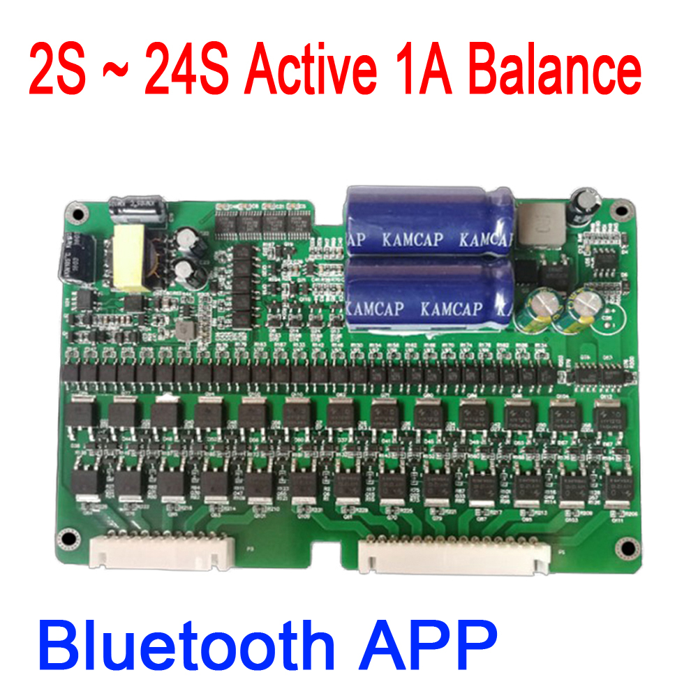Bluetooth APP 2S ~ 24S 1A Electric Car  Lithium Battery Active Equalizer Balance BMS Lifepo4 Balancer Protection Board EBike
