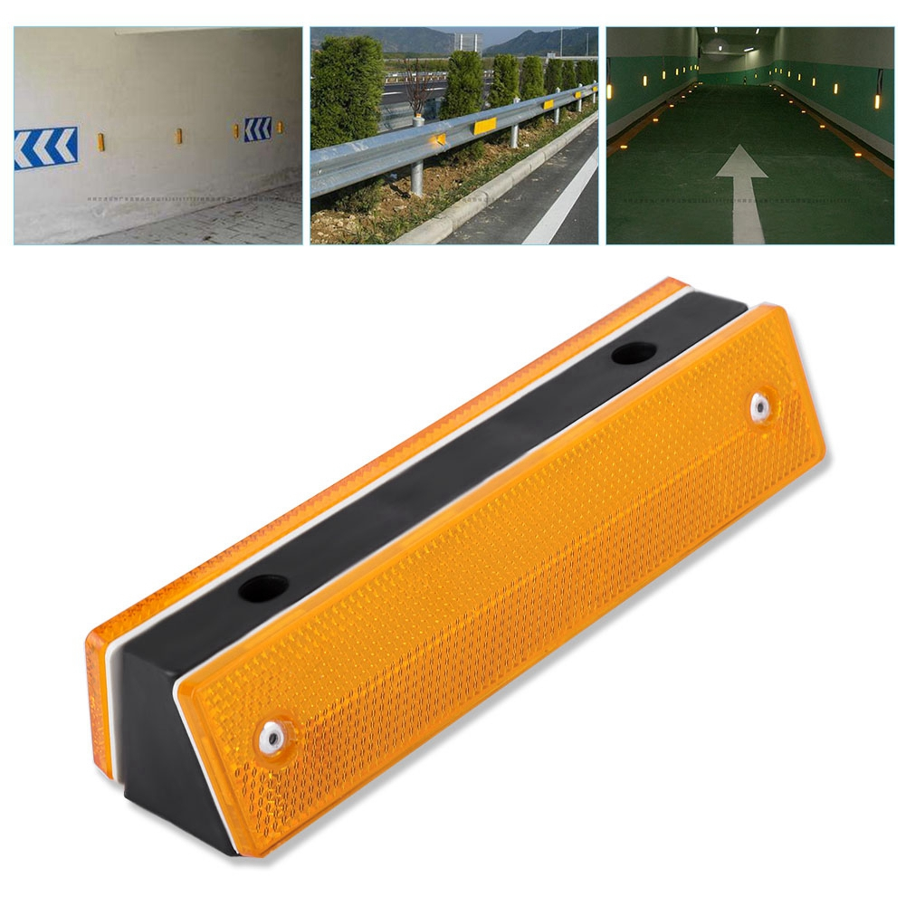 Rectangle Reflective Sign Marker Caution Road Roadway Safety Guidance  Yellow