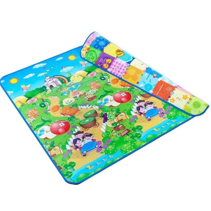 Tapis de jeu bébé 200x180x2 cm tapis de développement pour enfants Tapete Infantil imperméable à l'eau deux côtés doux enfants tapis de Puzzle en mousse