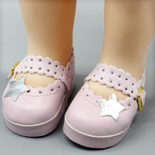 d5d7e62c06e8 Kids 16 Inch Doll DIY Fashion Cute Accessories Leather Shoes High-heeled  Shoes Dolls Toy Pentagram Stars Beautiful Bowknot Shoes