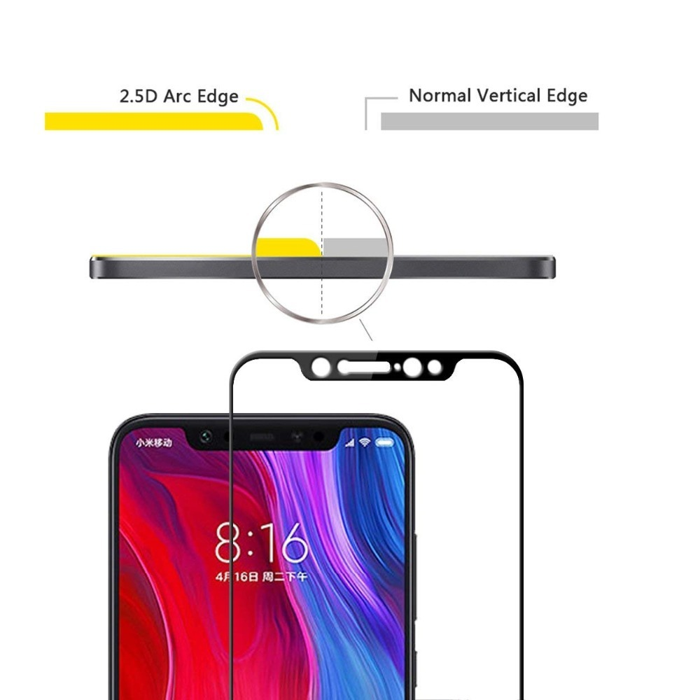Image 3 - Protective Glass On The For Xiaomi Mi 8 Tempered Ksiomi Lite Screen Protector 8 Pro 8se Xiomi Xomi Xiami 8lite 8pro Armor Case-in Phone Screen Protectors from Cellphones & Telecommunications