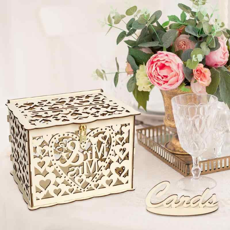 Detail Feedback Questions About Diy Wedding Gift Card Box Wooden