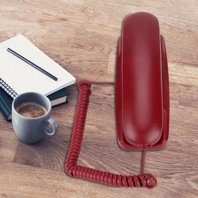 Przenośny Mini ścienne telefon stacjonarny rozszerzenie zasilany przez linii telefonicznej telefon domowy dla Hotel Family accessoire proszę zadzwonić do porta