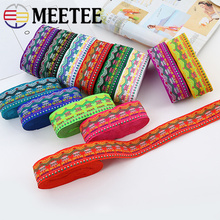 10meters Meetee 4.5cm Embroidery Ethnic Jacquard Webbing Ribbon Polyester Woven Trim for Dog Collar Sewing Clothing Accessories