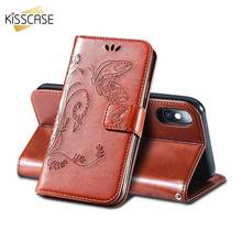 KISSCASE Butterfly Print Case For Samsung Galaxy A6 A8 Plus A7 A9 2018 A3 A5 2016 2017 Leather Flip Embossed Phone Cover Capa