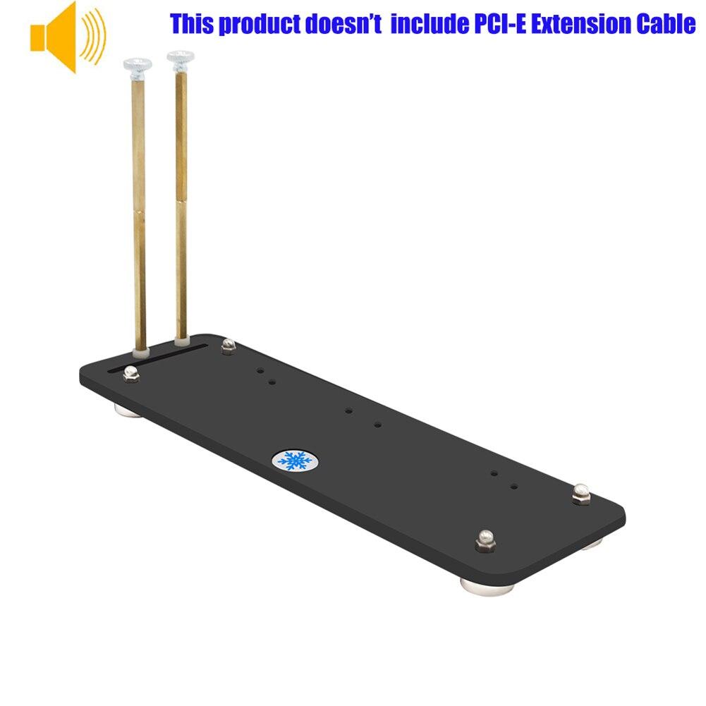 כרטיס גרפי נמוך / גבוה בפרופיל PCI-E כרטיס גרפי תמיכת Bracket תיקו מגנטי מחזיק הגעה חדשה (2)