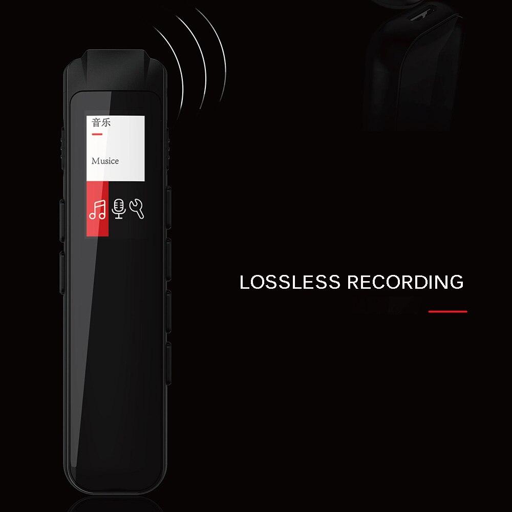 Grand enregistreur Audio de mémoire avec lecteur Mp3 enregistreur Portable HD USB cadeau Lecture Interview musique