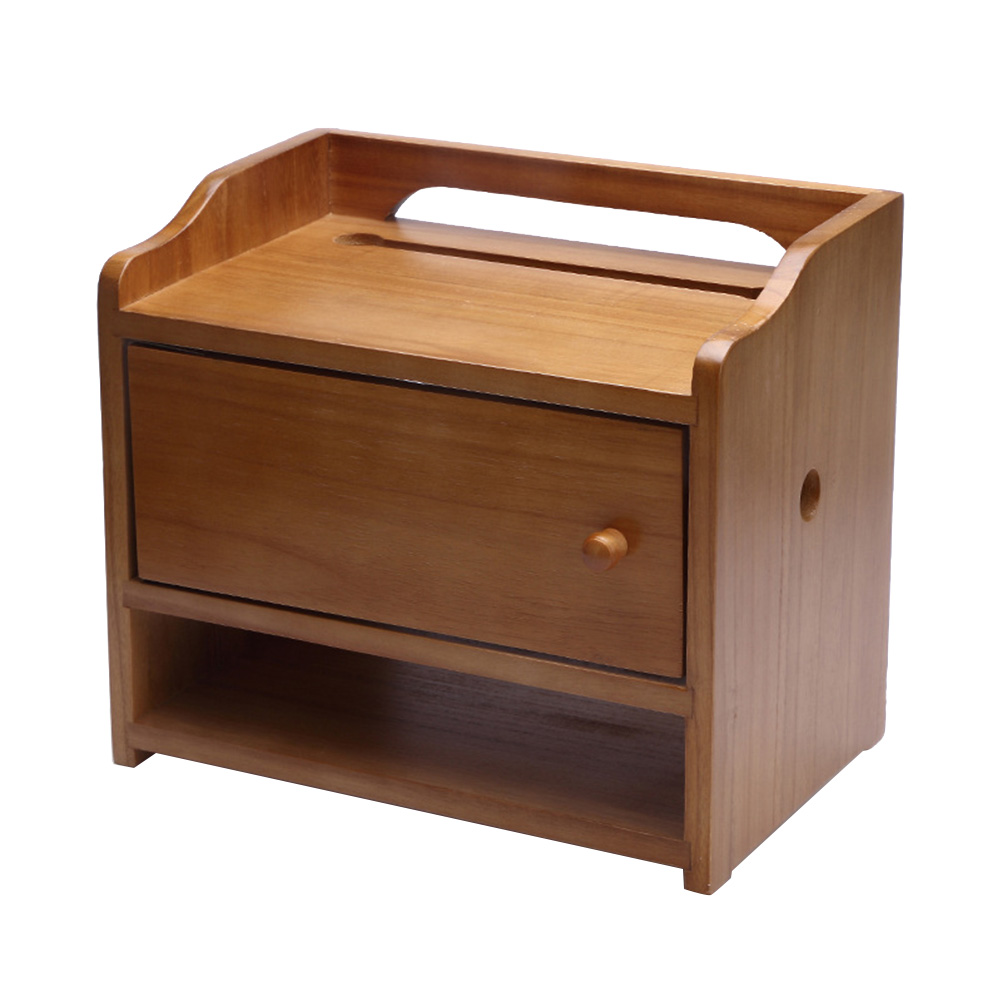 1 Pc Router Lagerung Box Durable Holz Retro Multifunktions Buchse Rack Regal Haushalt Liefert Draht Veranstalter GläNzend