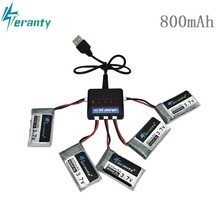 цена на 3.7V 800mAh 25c Lipo Battery and 5in1 Charger for Syma X5 X5C X5SC X5SW TK M68 CX-30 K60 905 V931 RC Quadcopter Drone Spare Part