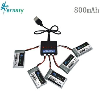 3.7V 800mAh 25c Lipo Battery and 5in1 Charger for Syma X5 X5C X5SC X5SW TK M68 CX-30 K60 905 V931 RC Quadcopter Drone Spare Part syma fhd camera for syma x8g 1080p 720p with holder mov format multi rotor spare part