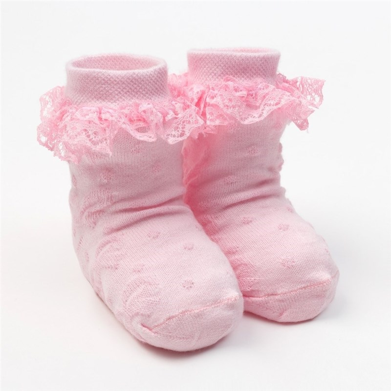 Socks Crumb I Bow, 9-12 month, 80% chl... 17% N/S, 3% el. socks crumb i mexico leo s 100% cotton