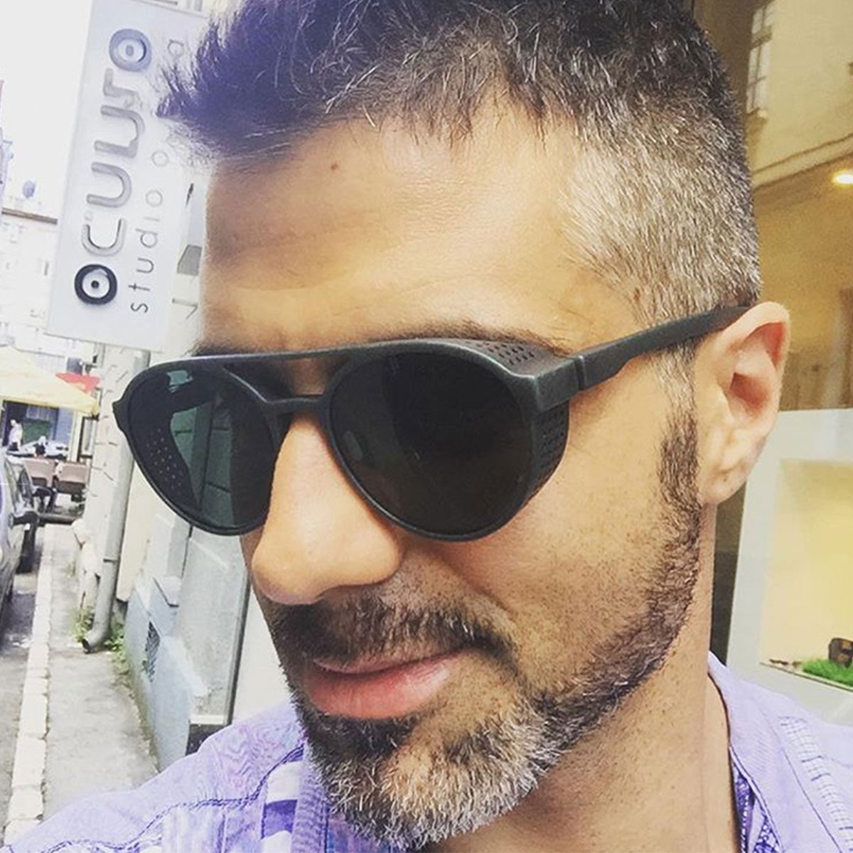2019 Fashion Trend Marke Sonnenbrille Für Männer Frauen Retro Hippie Runde Flip Steampunk Vintage Sonnenbrille