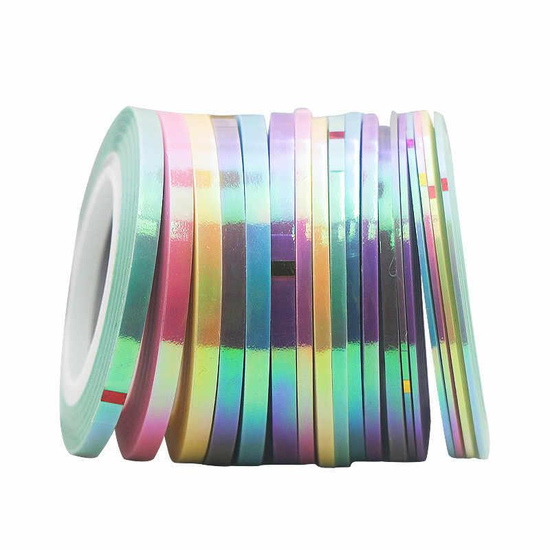 1mm DIY נייל מדבקת מסמר רדיד קלטת לרצועות קו בת ים צבעים בוהקים דבק מדבקת מדבקות אמנות ציפורן כלי מניקור קישוט