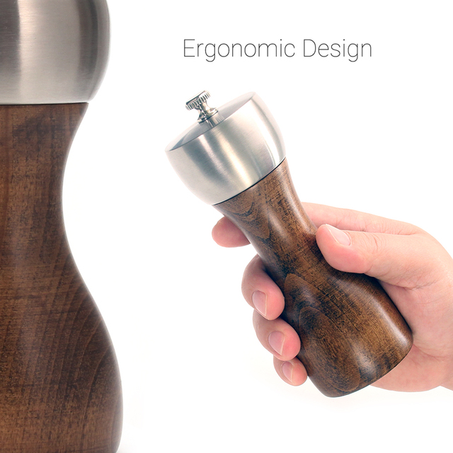 Wood pepper grinder – Precision helix-shaped grooves 5-6-8 inch