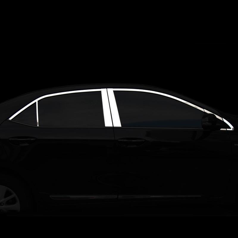 Chrome Décoratif Corps Extérieur De La Porte De Mode Garniture Pièces style de voiture Décoration Moulures 14 15 16 17 POUR Toyota Corolla