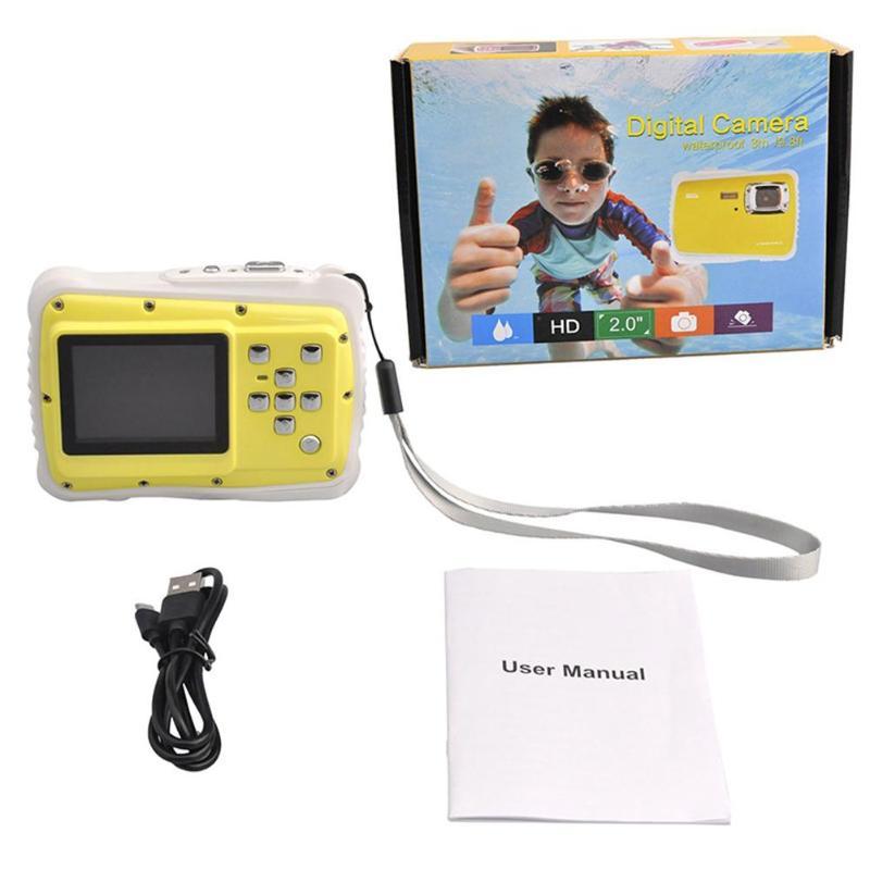 Enfants Cartton Mini caméra numérique 2 pouces 12MP HD 720 P étanche caméscope Portable enregistreur vidéo avec Microphone jouets de noël - 4