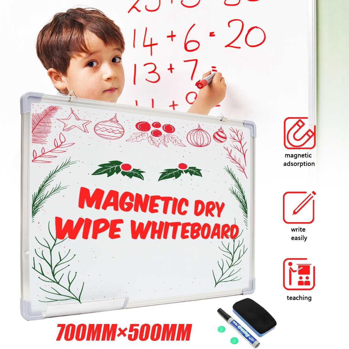 28x20 pouces magnétique effaçable à sec tableau blanc écriture tableau d'affichage simple côté bureau école Message