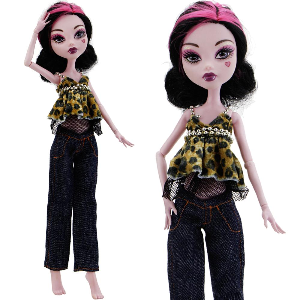 Stylish Denim Costume Set Tops Coat /& Trousers Pants Outfits For Blythe Doll