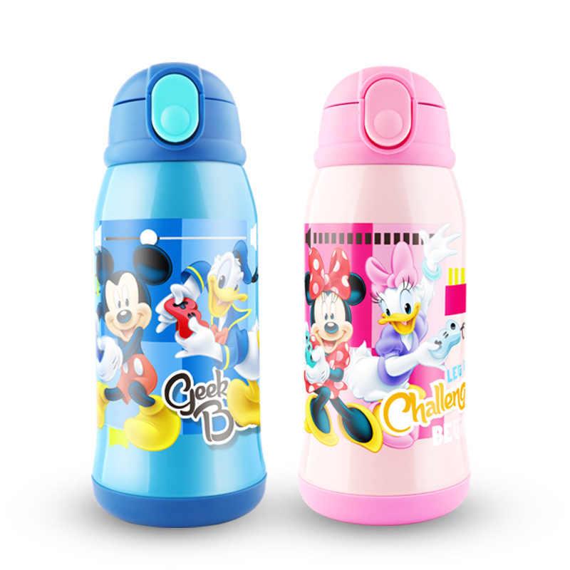 Disney мультфильм ребенка 500 мл 2019 Новый Детский двойной крышкой термос чашка с соломинкой чашка из нержавеющей стали подарок для детей бутылка