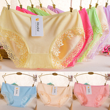8829e85c10ed 1PC High Quality Popular Lace Panties Bamboo Charcoal Fiber Hot Sale Cotton  High Elasticity Underwear Sexy