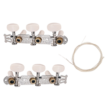 все цены на 2pcs Classical Guitar Tuning Pegs Keys with Nylon String Set for Classical Guitar Parts Accessories онлайн