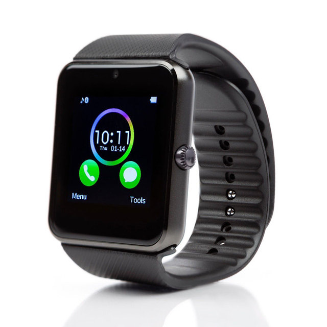 Smart watch GT08 gift box packing touch screen with Bluetooth Camera music play alloy men wrist smartwatch