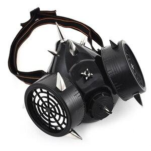 Image 2 - スチームパンクファッションレトロリベットガスマスク呼吸器サイバーゴシックコスプレスパイクマスクハロウィンパーティーアクセサリー