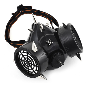 Image 2 - Steampunk moda Retro nity maska gazowa Respirator Cyber Gothic Cosplay kolce maski impreza z okazji Halloween akcesoria