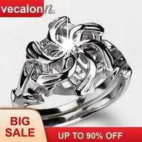 Klassische Vintage Hochzeit Band ring für frauen HERR DER RINGE Die Galadriel Nenya Charm 3ct 5A Zirkon 925 Soild Sterling Silber ring