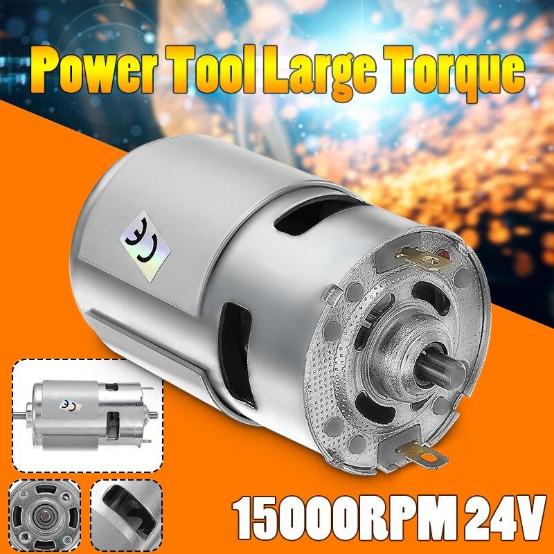 1 unid DC 775 12 V 24 V 15000 rpm de alta velocidad gran par Motor DC de energía eléctrica nueva herramienta motores y piezas de Motor DC