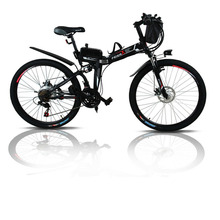 Freeshipping24 And 26 Inches Electric Folding Bicycle Lithium Battery Electric Vehicle Electric Mountain Bike Instead Of Walking special price 26 inches of lithium battery electric bicycle beach rental winter motorcycle 350 w 500 w mountain bike batter